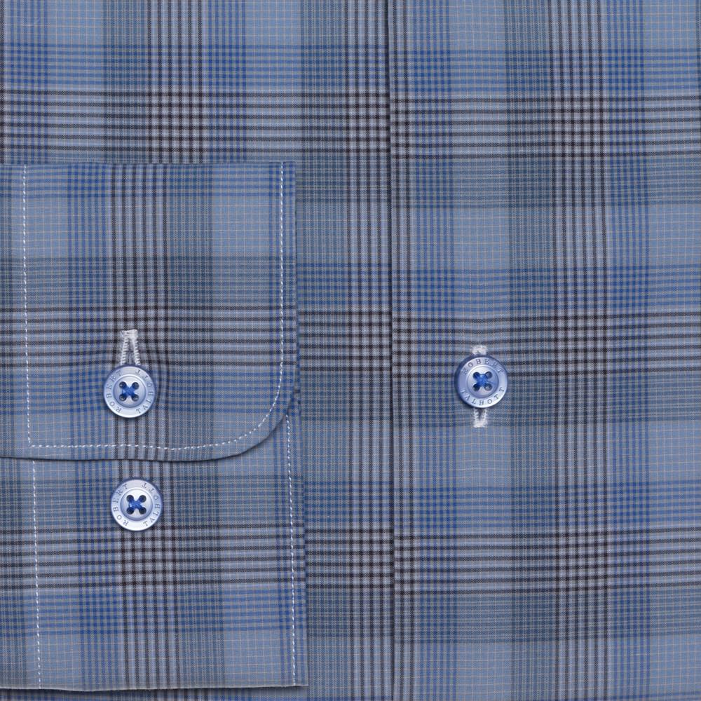 Blue Plaid 'Anderson II' Sport Shirt by  Robert Talbott