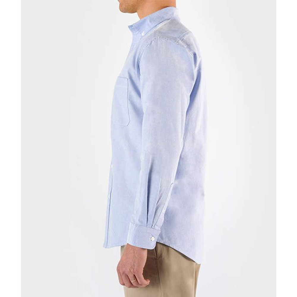 Side View (shown in Light Blue Oxford)