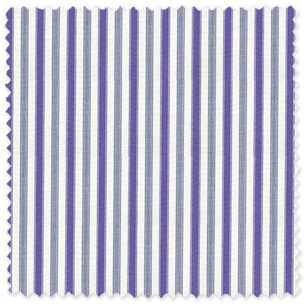 Navy and Purple Stripe 'Grandi & Rubinelli' Cotton Broadcloth Custom Dress Shirt by Skip Gambert