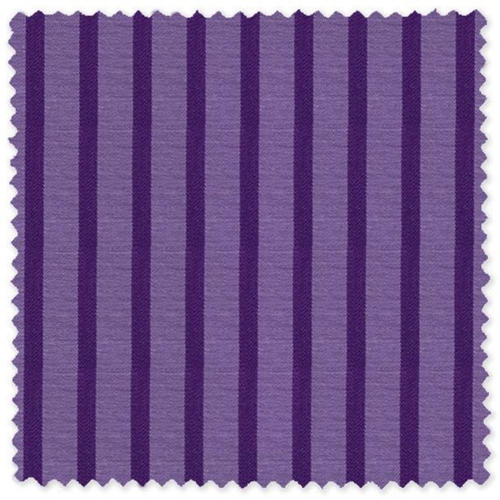 Purple Stripe Cotton Twill Custom Dress Shirt by Skip Gambert