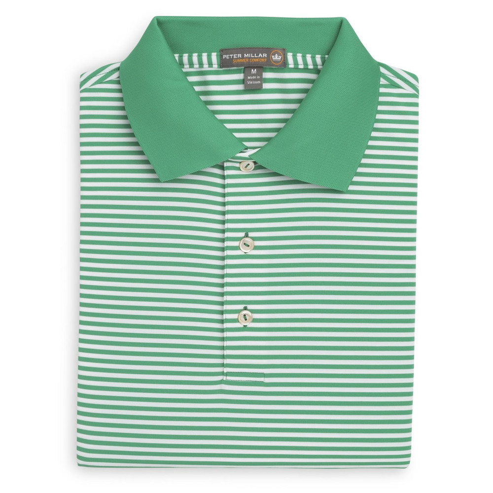 1b8a01b104b Competition Stripe Stretch Jersey 'Crown Sport' Performance Polo with Knit  Collar in Scuba and White by Peter Millar - Hansen's Clothing