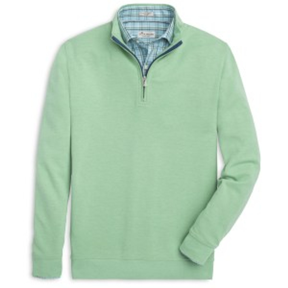 Heather 'Crown Comfort' Quarter-Zip Interlock Pullover in Pipeline by Peter Millar