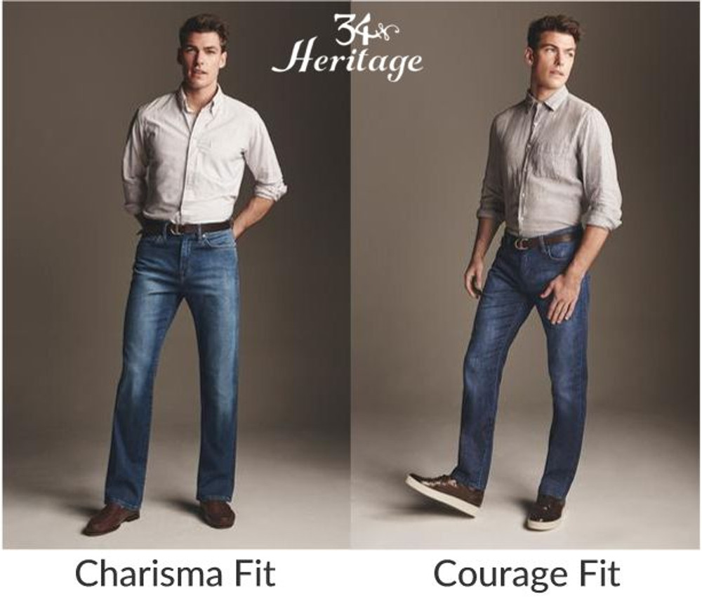 'Courage' Mid Vintage Wash Comfort Rise Jean by 34 Heritage