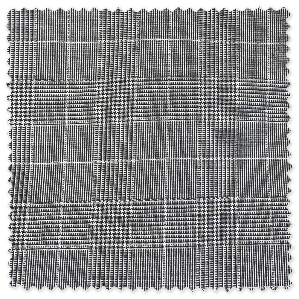 'Todd' Flat Front Lightweight Glen Plaid Wool Pant in Medium Grey by Zanella