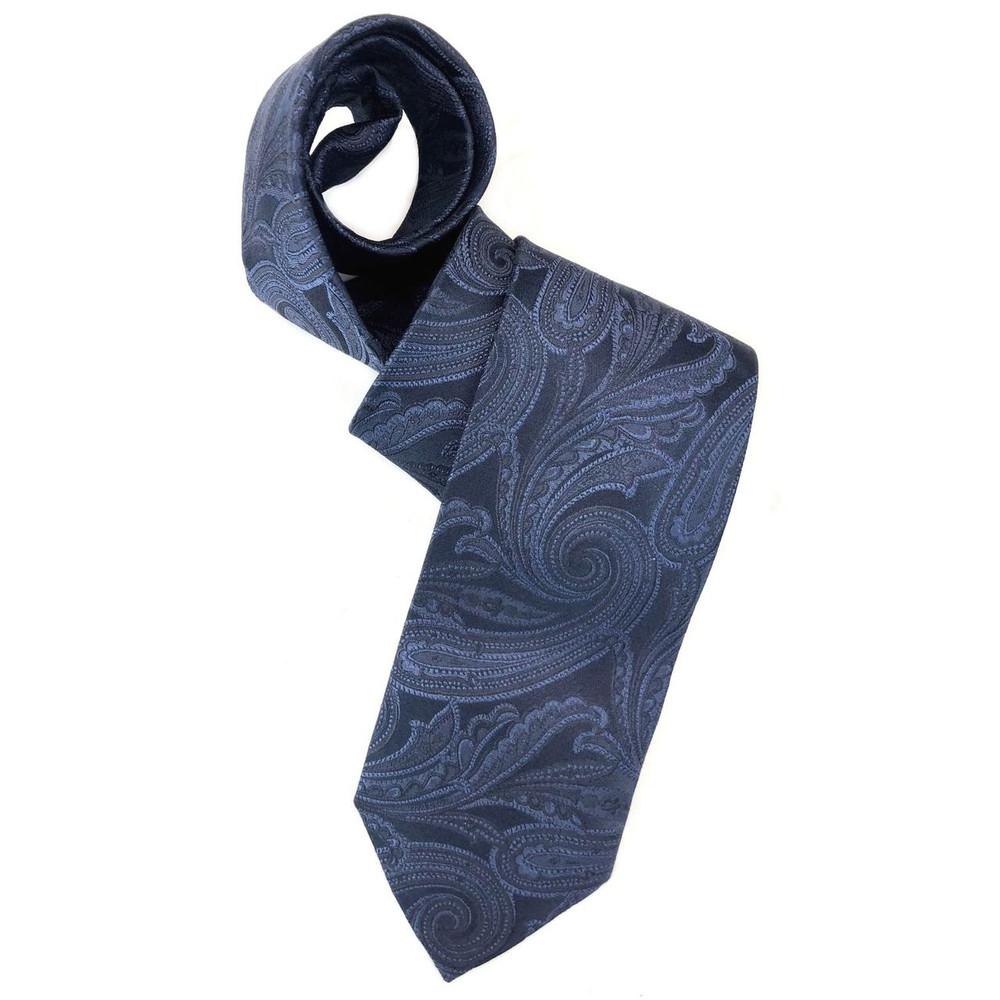 Spring 2018 Best of Class Navy on Navy Paisley 'Robert Talbott Protocol' Woven Silk Tie by Robert Talbott