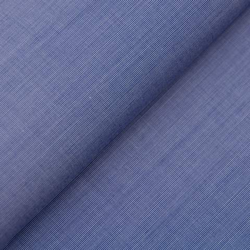 Albini Piumino 140's Blue Broadcloth Custom Dress Shirt by Gitman Brothers
