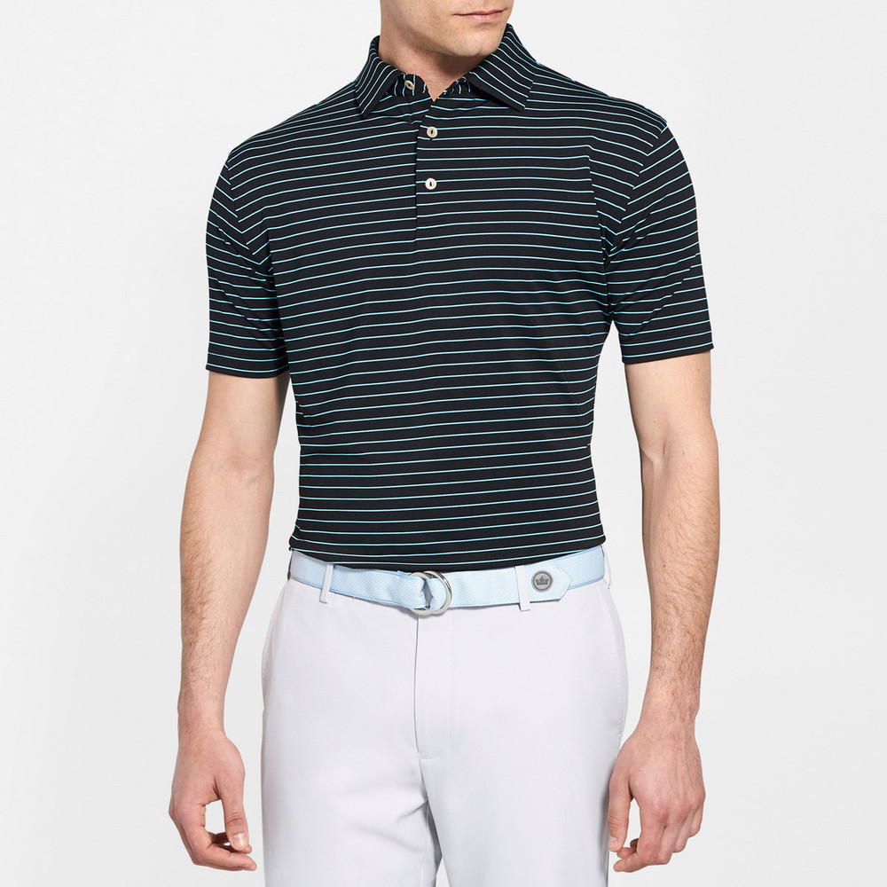 NEW Fall 2018 -Halifax Stripe Performance Polo by Peter Millar- Macron