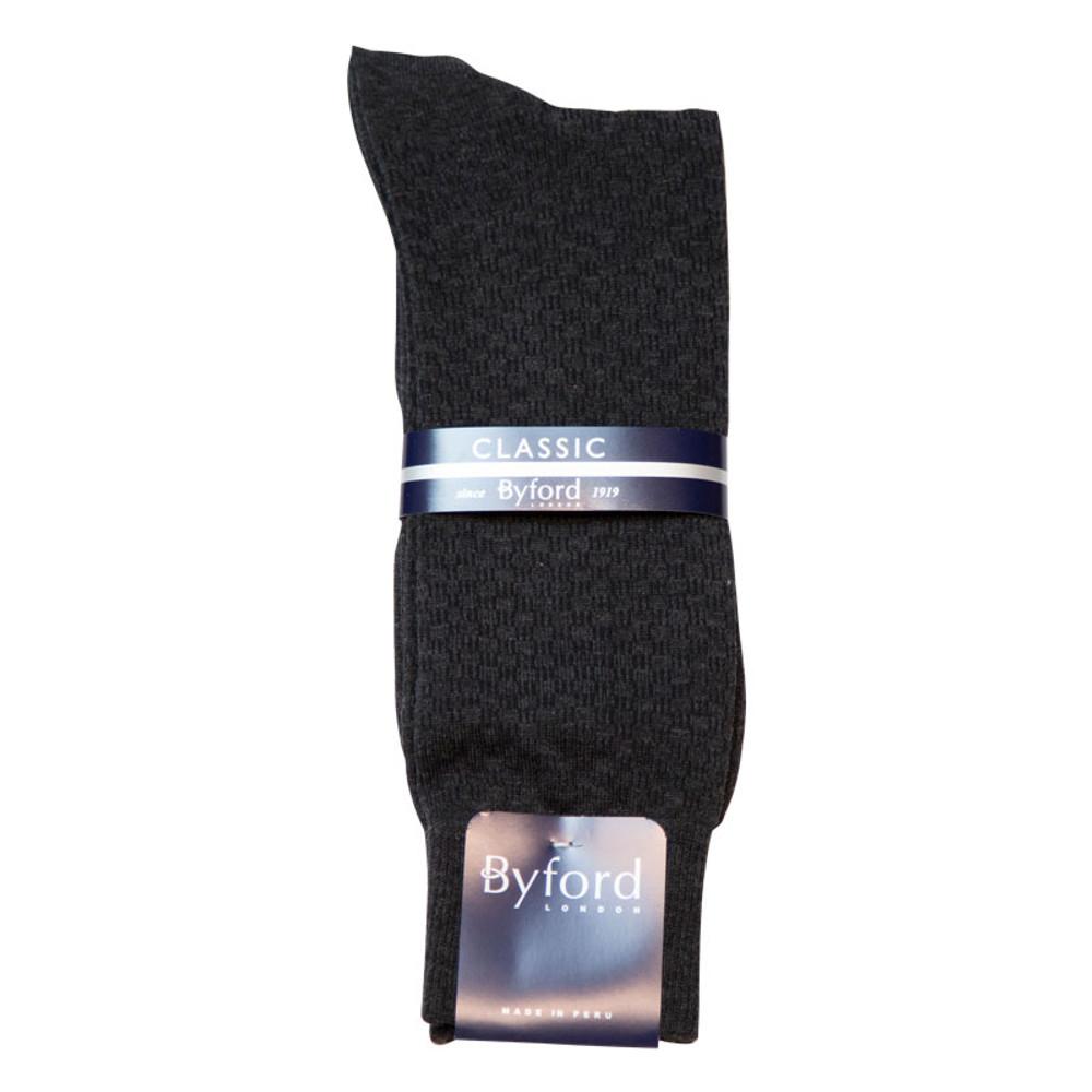 Black Link Design Peruvian Pima Cotton Socks (Mid-Calf) by Byford