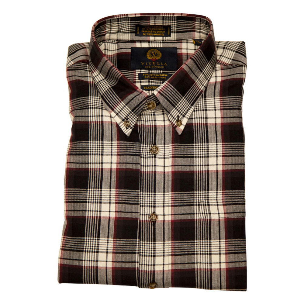 Birch Plaid Button-Down Shirt by Viyella