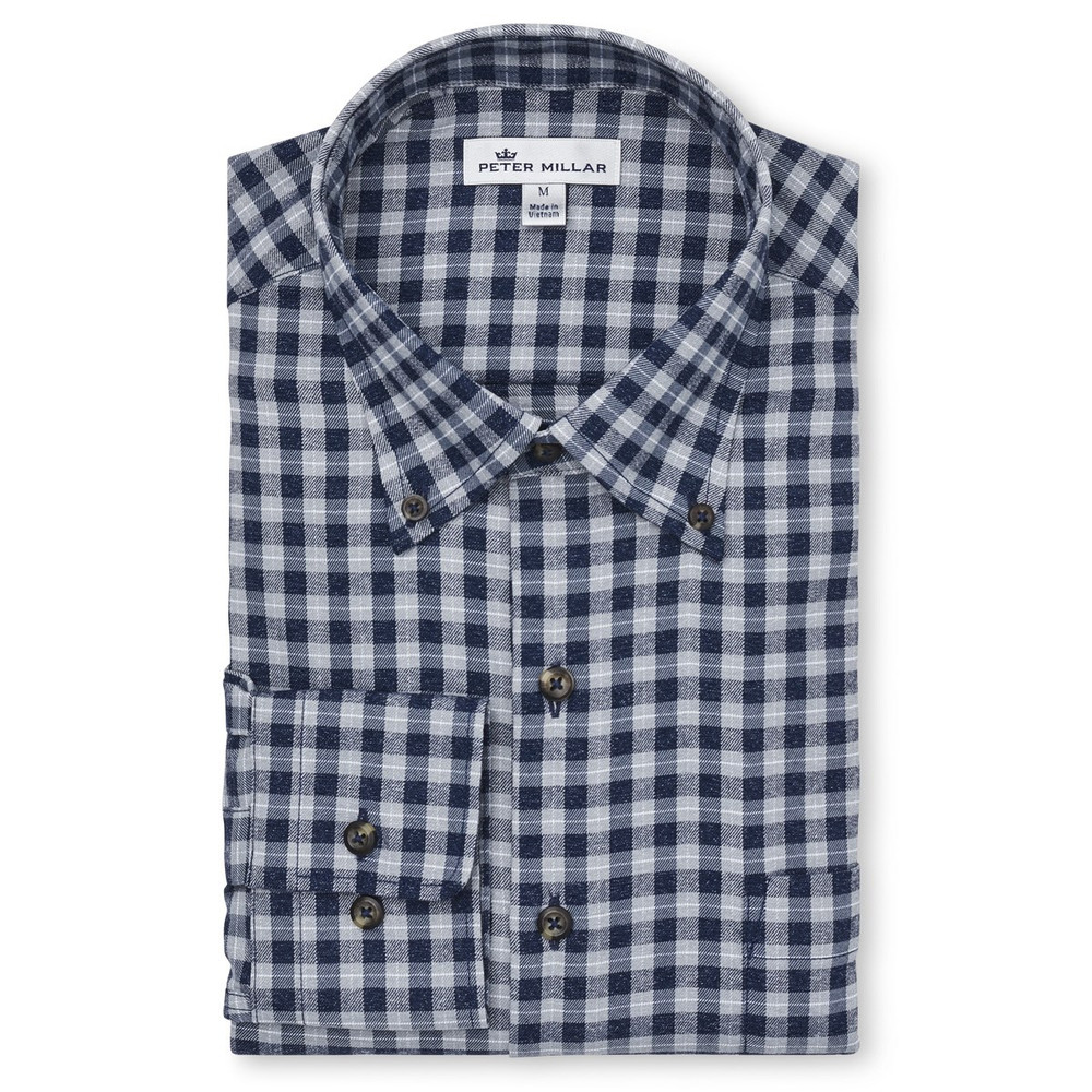Betts Performance Check Flannel Sport Shirt by Peter Millar