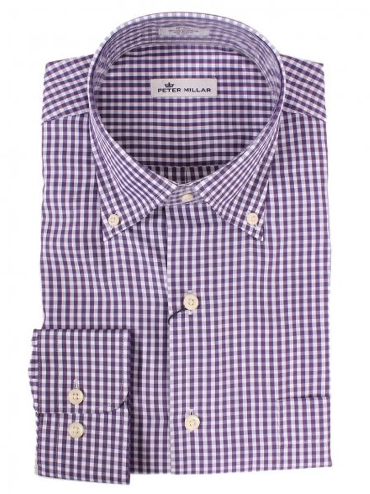 Crown Soft Gingham Sport Shirt in Pomerol by Peter Millar