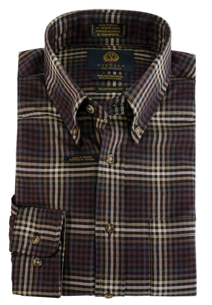Black Plaid Button-Down Shirt by Viyella