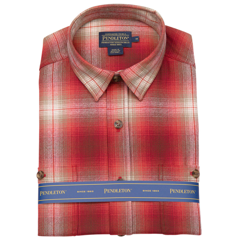 Zephyr Wool Shirt in Copper Ombre Plaid by Pendleton