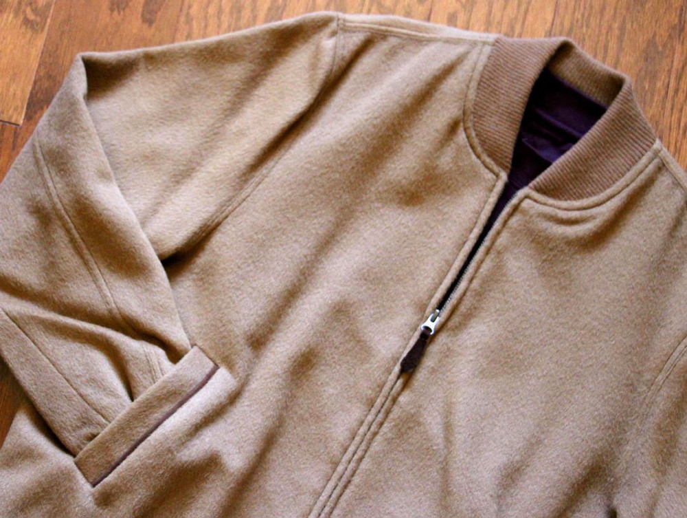Baby Alpaca/Merino Wool Bomber Jacket in Choice of Colors by Peru Unlimited