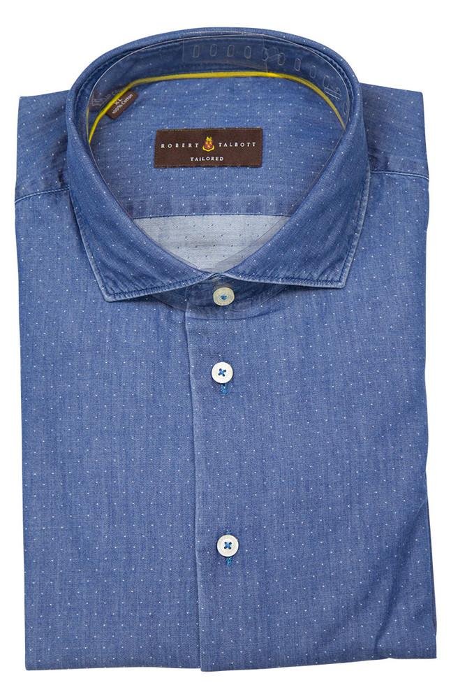 Denim 'San Carlos - Tailored Fit' Sport Shirt by Robert Talbott