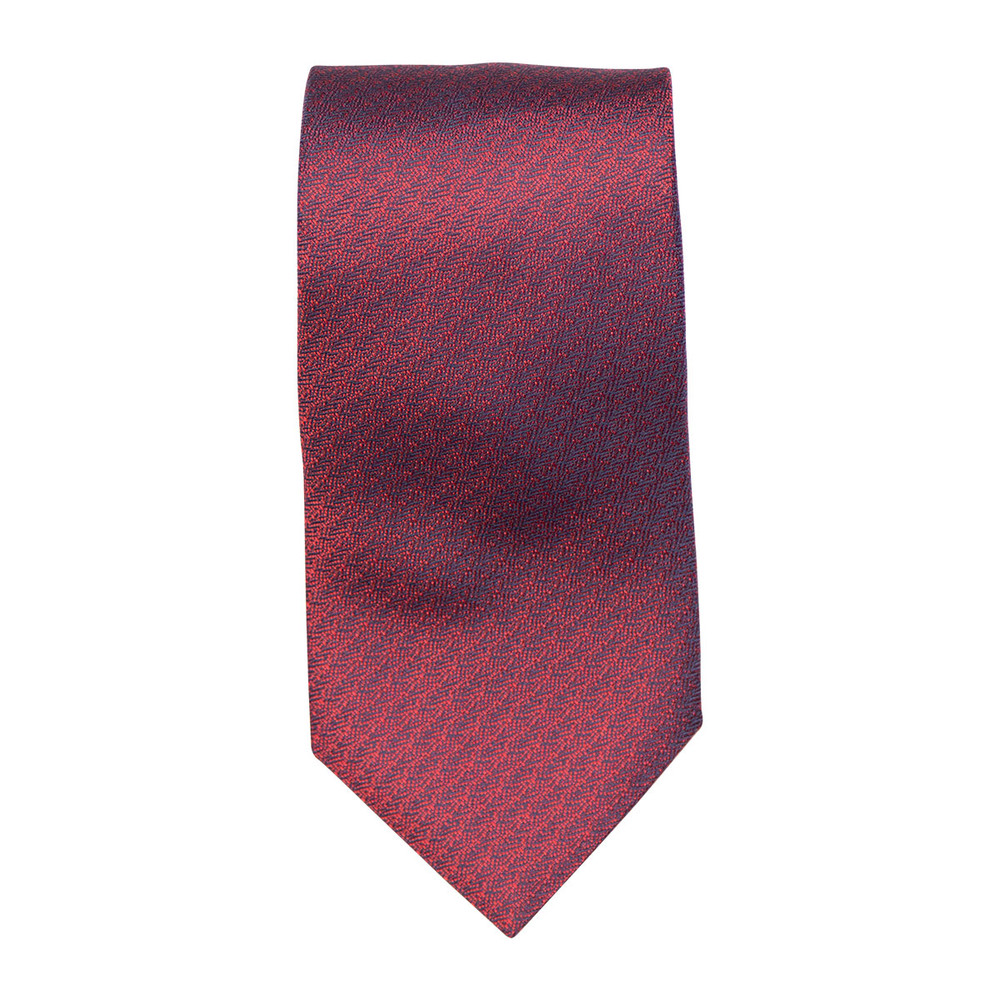 2018 Best of Class Red 'Spanish Bay Solid' Woven Silk Tie by Robert Talbott