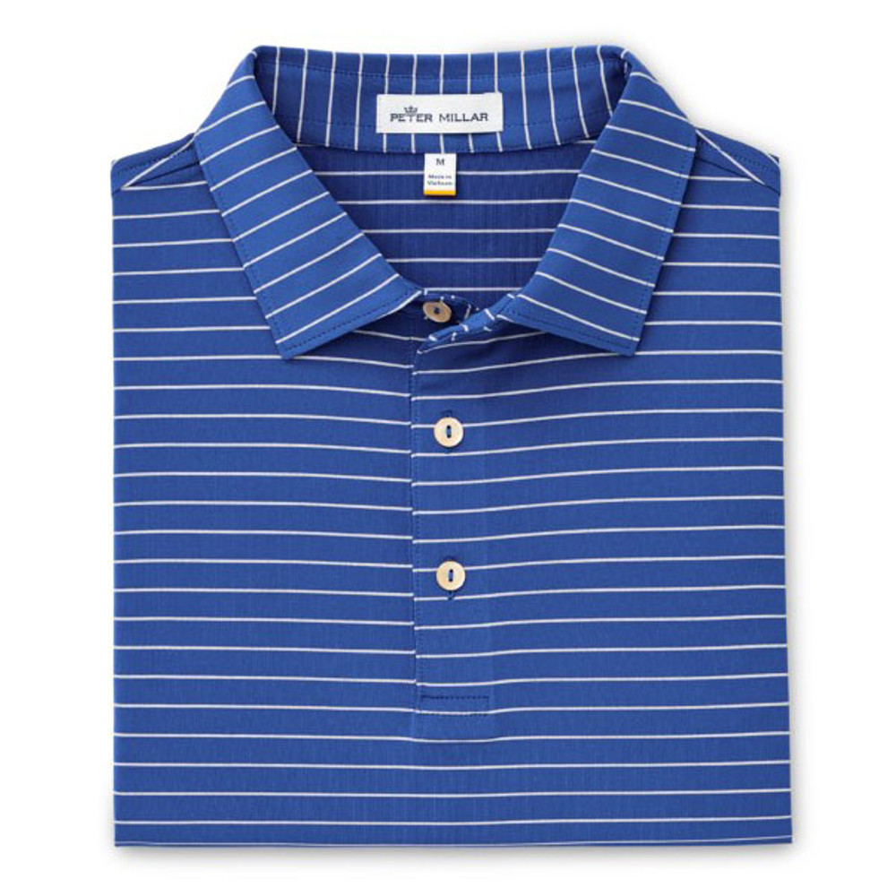 ee96d0c1200 Halifax Stripe Stretch Jersey 'Crown Sport' Performance Polo with Sean Self  Collar in Sail