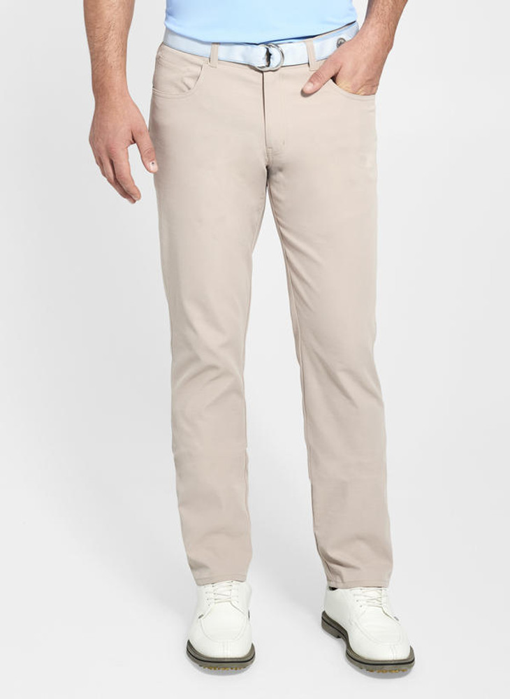 EB66 Performance Five-Pocket Pant in Khaki 'Crown Sport' by Peter Millar