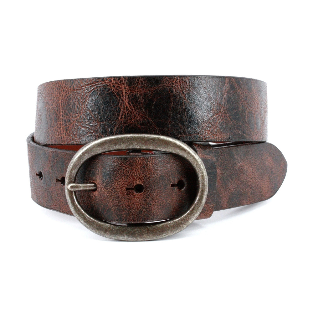 Shrunken Glove Leather Belt in Brown by Torino Leather Co.