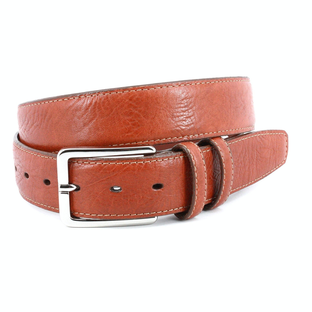 Shrunken Bull Shoulder Leather Belt in Tan by Torino Leather Co.