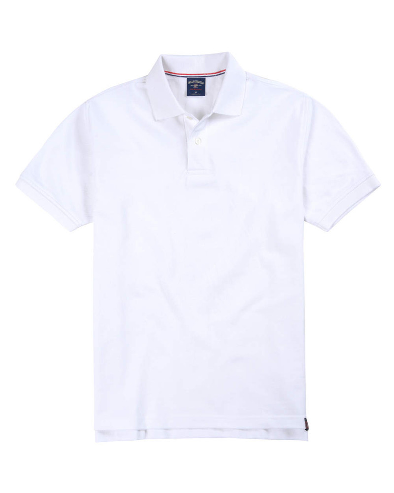 Supima Pique Polo In White By Bill's Khakis