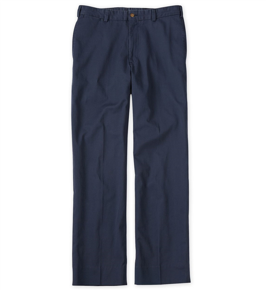 Travel Twill Pant - Model M1 Relaxed Fit Plain Front in Navy  by Bills Khakis