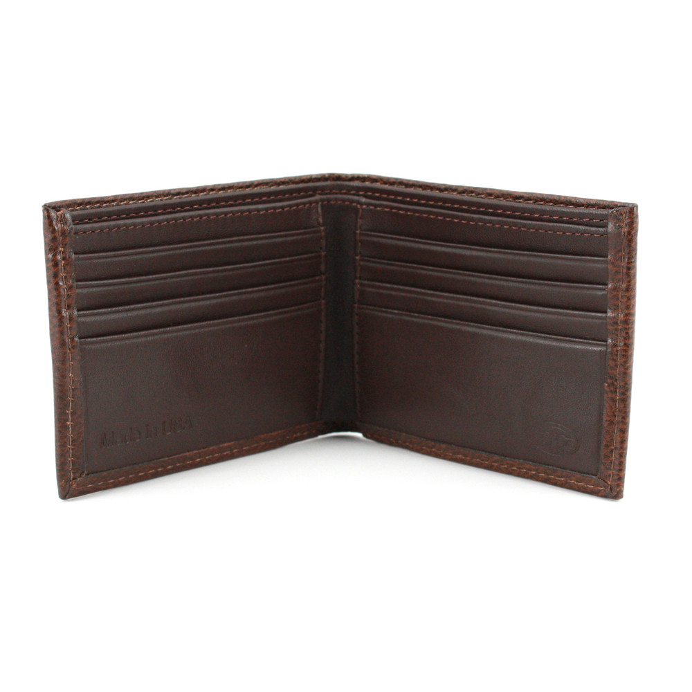Copy of Italian Glazed Milled Calfskin Leather Billfold Wallet in Brown by Torino Leather Co.