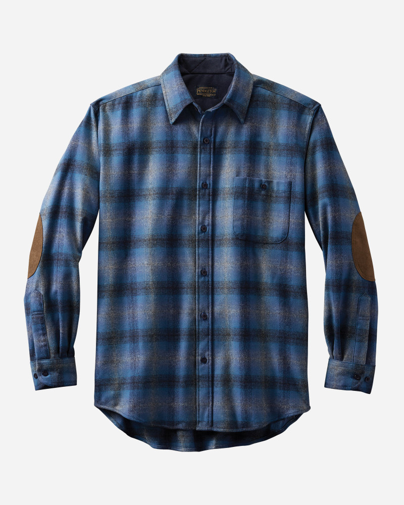 Elbow-Patch Trail Shirt in Blue Multi Ombre by Pendleton