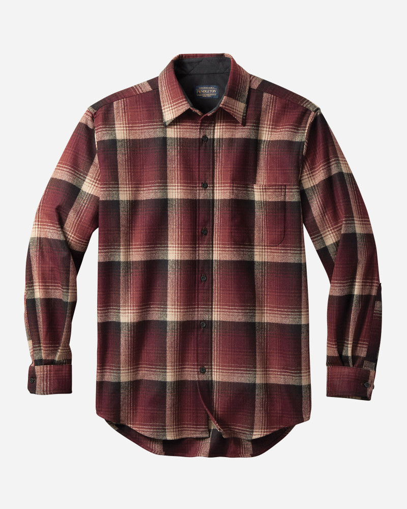 Maroon Ombre Lodge Shirt by Pendleton