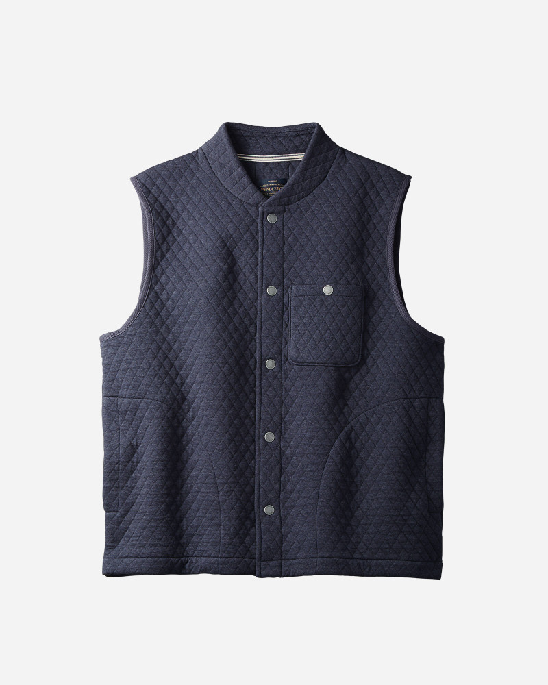 Quilted Knit Vest in Dark Blue Heather by Pendleton
