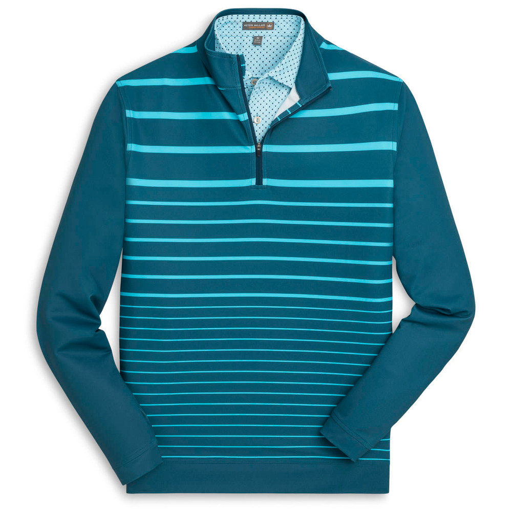 'Perth' Stretch Loop Terry Engineered Quarter-Zip in Maui Blue by Peter Millar
