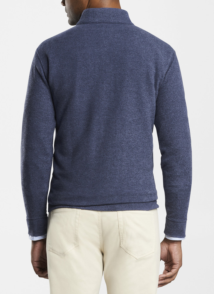 Tri-Blend Melange Fleece Quarter-Zip in Navy by Peter Millar