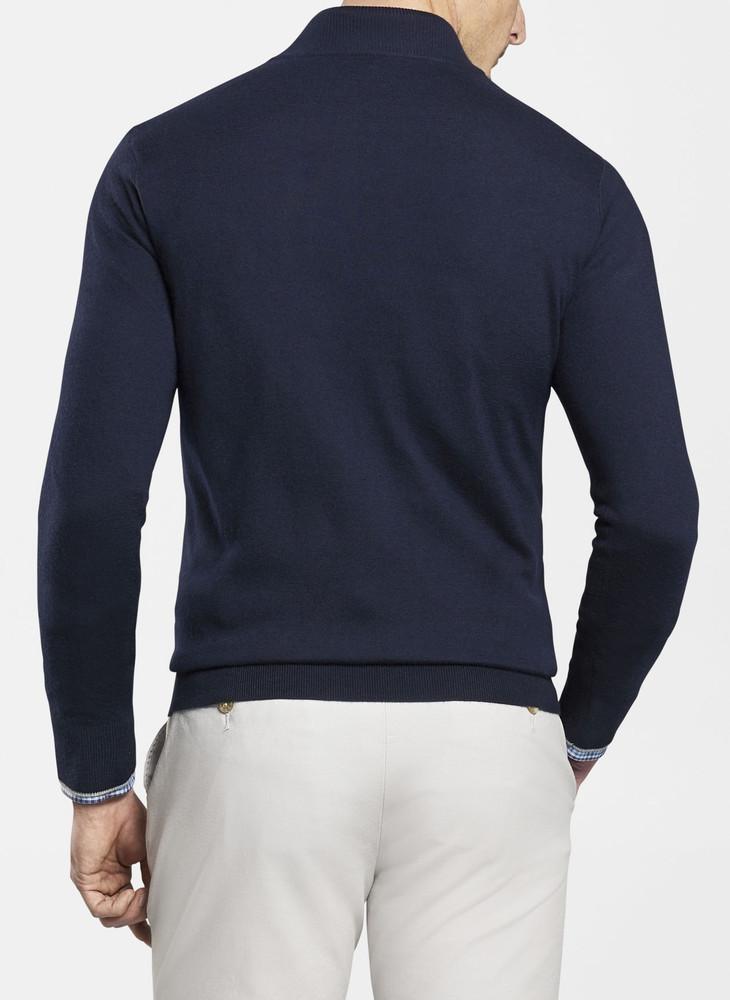 Crown Comfort Cashmere/Silk Quarter-Zip in Navy by Peter Millar