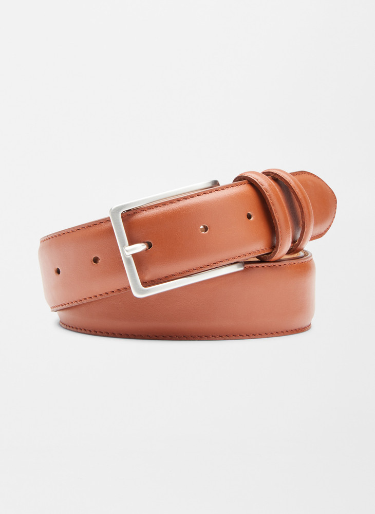 Crown Classic Leather Belt in Cognac by Peter Millar