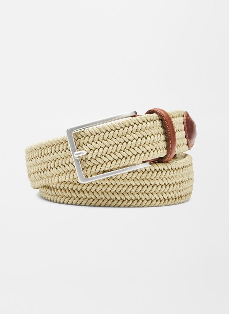 Waxed Braided Belt in Khaki by Peter Millar