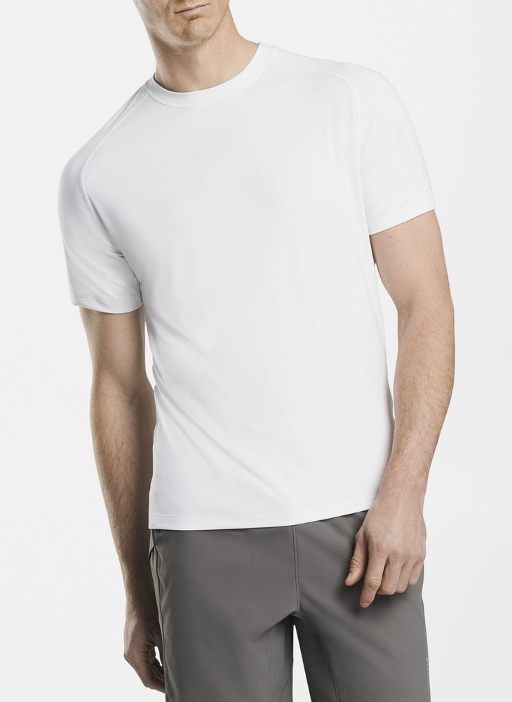 Rio Technical Performance T-Shirt in White by Peter Millar