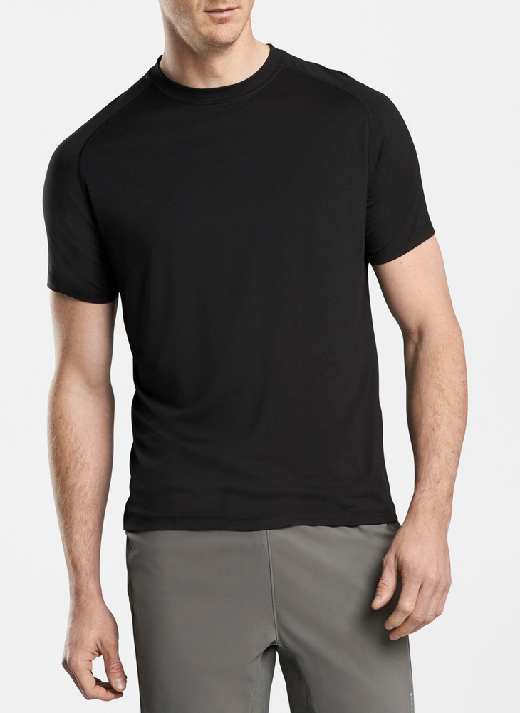 Rio Technical Performance T-Shirt in Black by Peter Millar