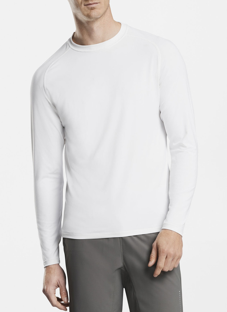 Rio Technical Performance Long-Sleeve T-Shirt in White by Peter Millar