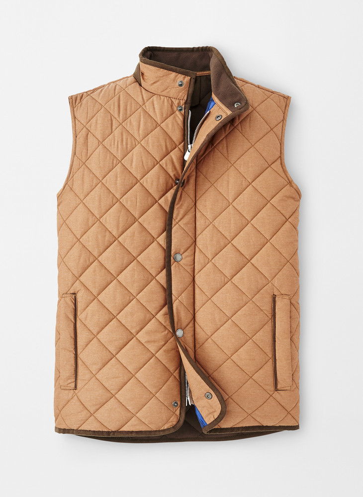 Essex Quilted Traveler Vest in Bullet Brown by Peter Millar