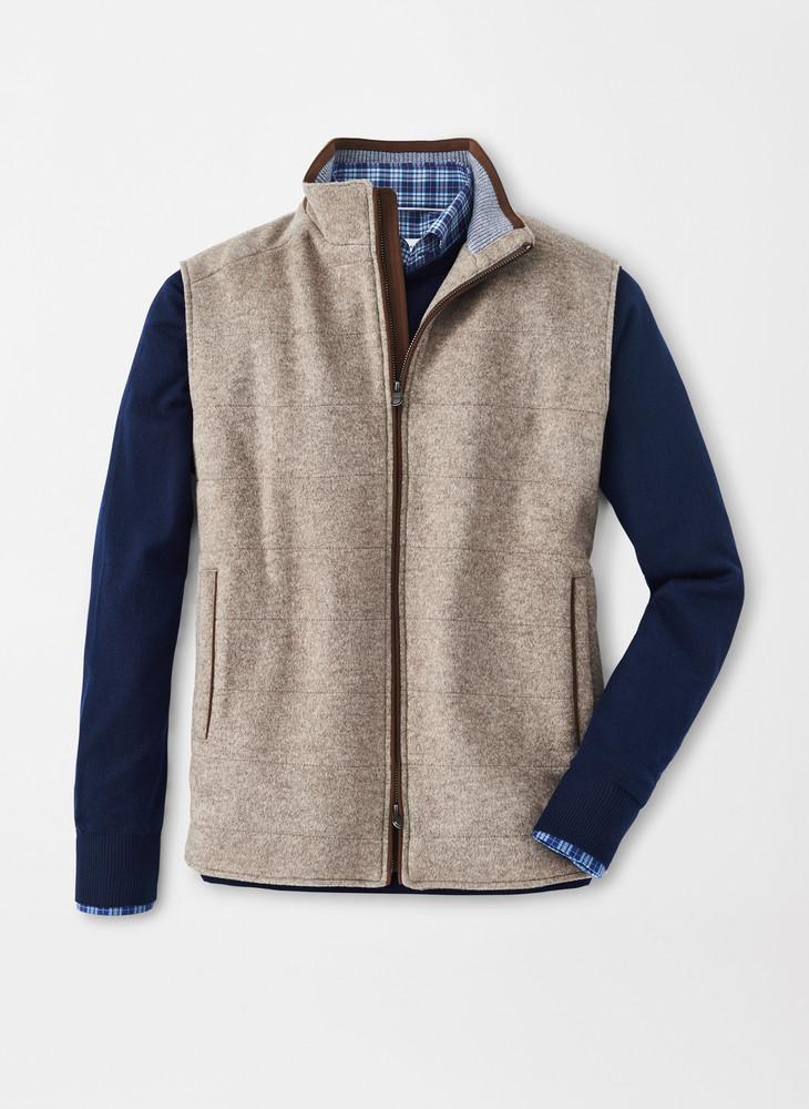 Crown Flex-Fleece Vest in Grain by Peter Millar