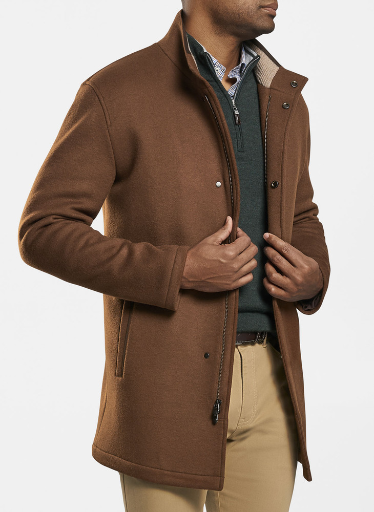 Flex-Fleece City Coat in Bourbon by Peter Millar