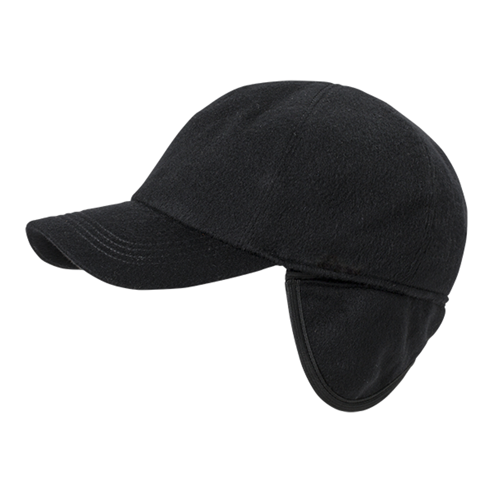 Cashmere Baseball Cap with earflaps in Choice of Colors by Wigens