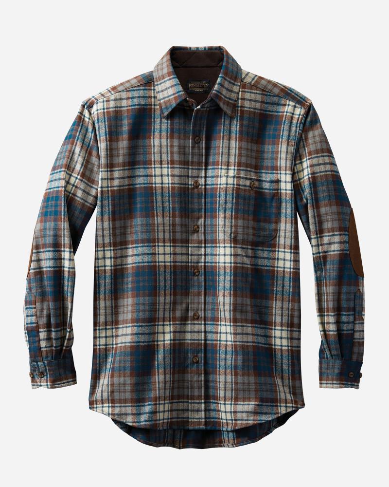 Elbow-Patch Trail Shirt in Macdonald Blue Tartan by Pendleton