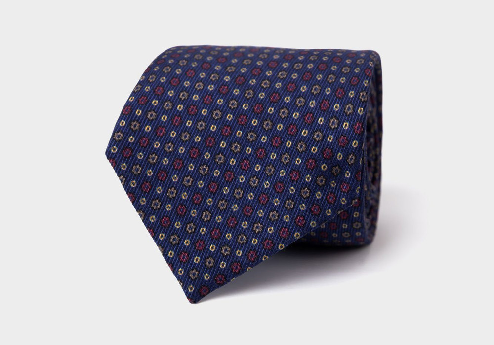 The Navy Deming Tie by Ledbury