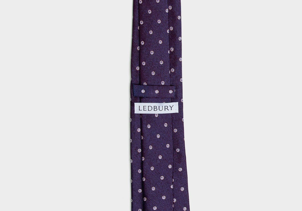 The Plum Cadogan Tie by Ledbury