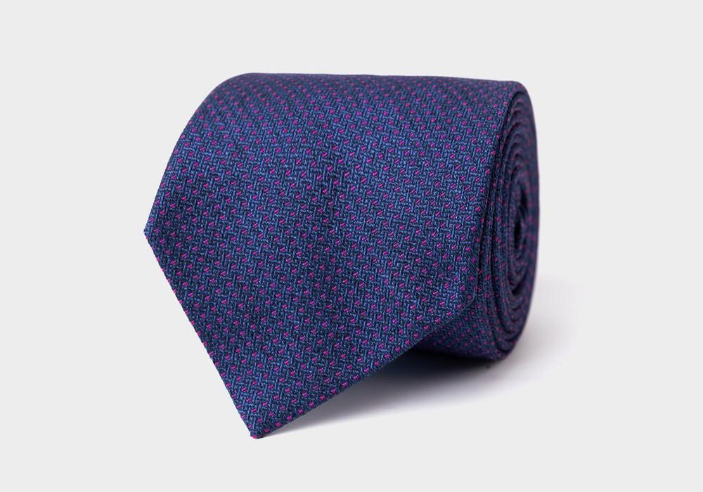 The Navy Tilbury Tie by Ledbury