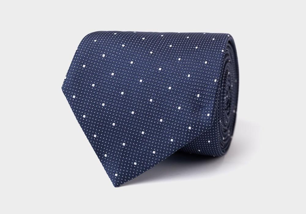 The Navy Fischer Tie by Ledbury