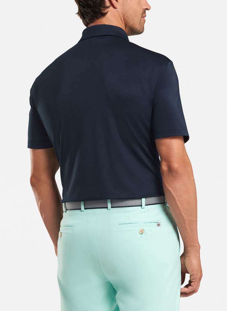 Solid Stretch Jersey 'Crown Sport' Performance Polo in Navy (XXL Only) by Peter Millar