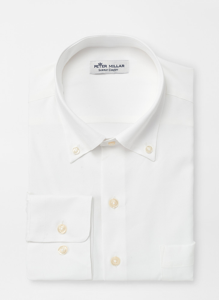 Rivers Natural Touch Sport Shirt in White by Peter Millar