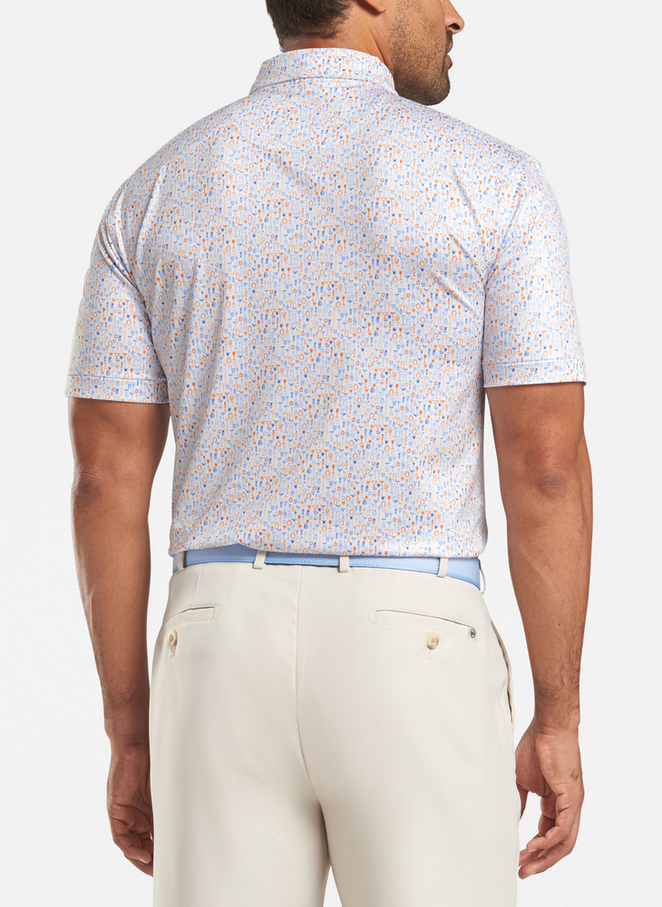 Spring 2020 Carroll 'Crown Sport' Performance Polo with Sean Self Collar in White by Peter Millar